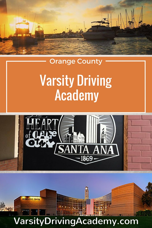 People living in any of the Orange County cities get to experience beaches, beautiful weather, sunshine, and the number one rated driving school in the area. Varsity Driving Academy is teaching students to drive safely and defensively.