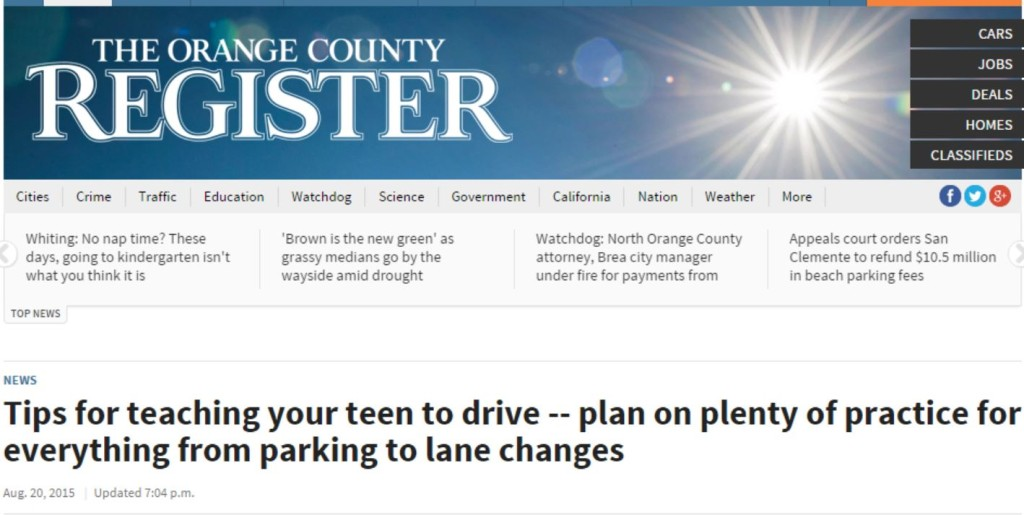 Varstiy Driving Academy in Orange County Register