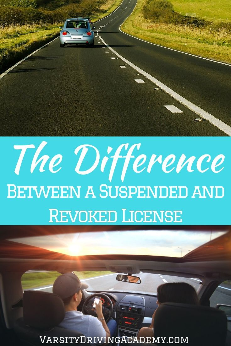 Learn the difference between a suspended and revoked license so that you are aware of the consequences for not following the law.